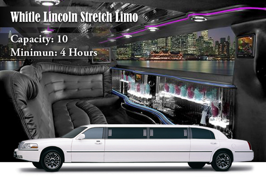 White Lincoln Stretch Limo Rental New York